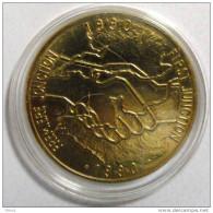 1990 - PRIX FIXE - Médaille De La 1ère Jonction - Tunnel Sous La Manche - Eurotunnel - Shutttle - Monnaie De Paris - Non Classés