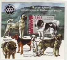 Bulgarie / Bulgaria, Balkanfila, Bloc Chiens (6500 Ex) N° Michel 330, Neuf **, 2010 - Neufs