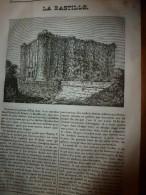 1833 LM :La BASTILLE; Les Caravansérails; L'AIGLE; Le Dattier ; FENELON ; Evènements En Ce Mois De Septembre - Vieux Papiers