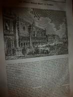 1833 LM :La BASTILLE; La Place Saint-Marc à VENISE; La Porte Saint-Martin; L'OURS ; L'oranger;  CROMWELL - Vieux Papiers