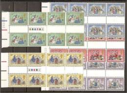 1979 Gran Bretagna Great Britain NATALE  CHRISTMAS 8 Serie Di 5v. In Blocco Con Interspazio MNH** - 1952-.... (Elizabeth II)