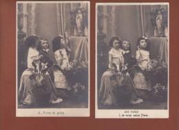 10  Cpa Fantaisie Enfant - Dp - Priere - Ave Maria Je Vous Salue Marie - Enfants