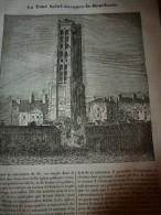 1833 LM :La TOUR-SAINT-JACQUES-DE-LA-BOUCHERIE ; La Hiène ; Le PIN ; Le Mont SAINT-MICHEL ; La Vaccine ; Les Paragrèles - Vieux Papiers