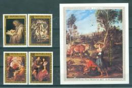 CONGO (BRAZZAVILLE) - S.G. Nr 596/599 + MS 600  - P.P. Rubens - Cote 13,90 GBP - Congo - Brazzaville