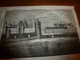 1833 LM :Le VIEUX LOUVRE (gravure Pleine Page);Les Pigeons; Le Noyer; FREDERIC II Roi De Prusse; Les Bandits Indous - Vieux Papiers