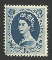 Great Britain, 1 S. 6 P. 1958, Sc # 369, Mi # 334, Used - 1952-.... (Elizabeth II)
