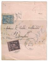 SAGE N°90 + 97 Sur BANDE JOURNAL RECOMMANDEE De LOCHES (INDRE Et LOIRE) Griffe RETOUR A L´ENVOYEUR - Marcophilie (Lettres)