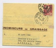 """FRANCE : MARIANNE DE GANDON 6F ROSE N° Yvert 721 SUR """"LETTRE DE COMMANDE"""" DU 26/3/49 LYON TERREAUX - 1945-54 Marianne De Gandon"""