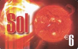 TARJETA DEL ESPAÑA DE EL SOL DE 6 EUROS - Astronomy