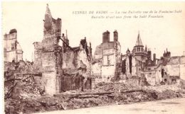 Ruines De Reims La Rue Buirette Vue De La Fontaine Subé - Reims