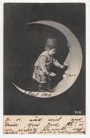 Enfant - Lune - Carte Précurseur - N° 1310 - 2 Scans - Enfants