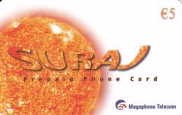 TARJETA DE ESPAÑA DE EL SOL  (SATELLITE) SURA - Astronomy