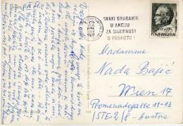 Croatia Zagreb Yugoslavia Slogan Postmark CENTAR ZA PROMETNU KULTURU, - Croatia