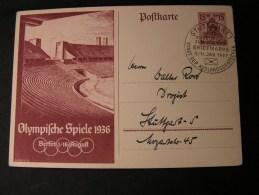 ==  DR Bildkarte Olympia 1936 , SST Stuttgart Stadt Der Auslanddeutschen - Deutschland