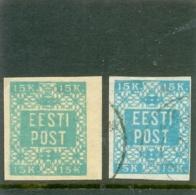 1919 ESTONIE Y & T N° 2 ( O ) Et ( * ) Les 2 Timbres - Estonie