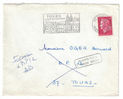 1969 LETTRE Avec GRIFFE De RETOUR à L´ENVOYEUR / N'HABITE PAS à L'ADRESSE INDIQUEE Inconnu à BP 12 Boite Postale - Marcophilie (Lettres)