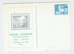 Germany Sweden PLANCK NOBEL PRIZE POSTAL CARD 1979 - Nobel Prize Laureates