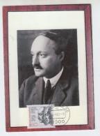 Germany JAMES FRANCK NOBEL PRIZE MAXIMUM CARD - Premio Nobel