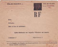 Enveloppe YMCA CAVIARDÉE - VOTE DES RÉFUGIÉS - ELECTIONS -  SURCHARGE RF- Lettre - Soldier's Mail - Documentos Históricos