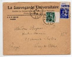 1939 - ENVELOPPE De VANVES Avec TIMBRE DE CARNET TYPE PAIX - BANDE PUBLICITAIRE BYRRH FRANCAIS - MERCURE - 1921-1960: Periodo Moderno