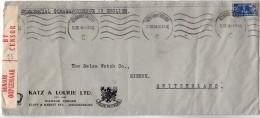 AFRIQUE DU SUD SUISSE - JOHANNESBURG BIENNE - OUVERT PAR LA CENSURE - SUR ENVELOPPE - Afrique Du Sud (1961-...)