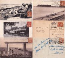 Groupe De 6 CP Avec DAGUIN De GIRONDE Sur SEMEUSE N° 235 25c Au Tarif CP 5 Mots - Marcophilie (Lettres)