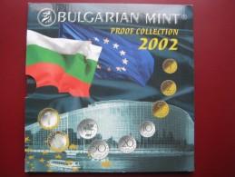 Bulgaria Mint 2002 7 Coin Collection Set 1 Stotinka - 1 Lev + Mint Token Sealed In Folder - Bulgarie