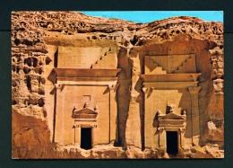 SAUDI ARABIA  -  Madain Saleh  Nabataean Tombs  Used Postcard As Scans - Saudi Arabia