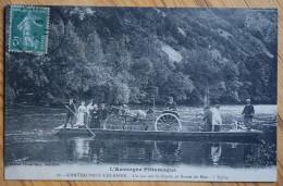63 : Chateauneuf-les-Bains - Un Bac Sur La Sioule Et Route De Blot - L'Eglise - Animée - Attelage - (n°5952) - Autres Communes