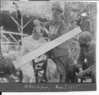 Vosges La Grande Fosse Soldat Allemand Chez Le Barbier Coiffeur 1 Photo 1914-1918 14-18 Ww1 Wk1 - Guerra, Militares