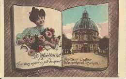 Scherpenheuvel - L'Eglise - De Kerk - De Montaigu Je Vous Envoie Ce Joli Bouquet - Pas Circulé - Colorisée - TBE - Scherpenheuvel-Zichem