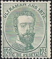 1873 ANTILLAS ESPAÑA SPAIN. 12 CENT Y MEDIO PESETA VERDE. EDIFIL 26. - Préphilatélie