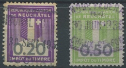 1462 - NEUCHÂTEL - Fiskalmarken - Steuermarken