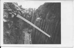 Soldats Allemands Dans La Tranchée Hiver 1914-1915 1 Carte Photo 14-18 1914-1918 Ww1 Wk1 - War, Military