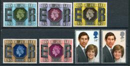 Great Britain 1977-81. 2 Complete Sets (7 Stamps) - 1952-.... (Elizabeth II)