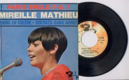 EP 45tours : MIREILLE MATHIEU : Paris En Colère - Chanson Du Film 'Paris Brule-t-il ? (1966) - Vinyl Records