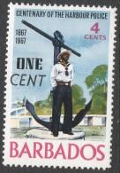 Barbados. 1969 Surcharge. 1c On 4c MH. SG 392 - Barbados (1966-...)
