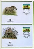 2000 - GIBUTI - REP. DJIBOUTI -  Mi. Nr. 678/681 - OFFICIAL FDC - (CAT 2016 WWF) - Gibuti (1977-...)