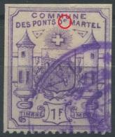 1474 - PONTS DE MARTEL - Fiskalmarke ABART