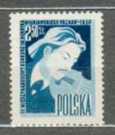 POLAND MNH ** 917 FESTIVAL INTERNATIONAL DE VIOLON à POZNAN. HENRYK WIENAWSKI. MUSIQUE Musicien - 1944-.... République