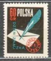 POLAND MNH ** 940 JOURNEE DU TIMBRE. LETTRE ENVELOPPE PLUME - 1944-.... République