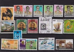 TIMBRES - STAMPS - RÉPUBLIQUE  DU CONGO - LOTE DE 18 TIMBRES DIVERS OBLITÉRÉS - République Démocratique Du Congo (1997 -...)