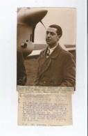 LE BOURGET PHOTO DE PRESSE DE L´AVIATEUR GILBERT DENIS QUI VA TENTER LE RECORD DU PARCOURS PARIS SAIGON - Aviation