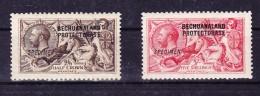 Bechuanaland 1914 SG 83*/84s* 2.6 Und 5 Shilling Aufdruck Specimen - Bechuanaland (...-1966)