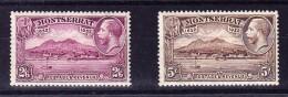 Karibik Montserrat 1932 SG#92* Und 93 * Höchste Werte - Montserrat