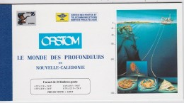 NOUVELLE CALEDONIE CARNET 12 TIMBRES COQUILLAGES CRUSTACES - Conchas