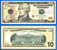 USA 10 Dollars 2013 Neuf UNC Mint Dallas K11 Suffixe A Etats Unis United States Dollar Skrill Paypal Bitcoin - Large Size - Taglia Grande (...-1928)