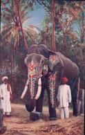 Inde, H.H. The Maharajah Of Mysores Elephant (Oilette 9850c) - Indien