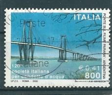 2000 SOCIETA' CONDOTTE ACQUE 800 Lire  USATO - 6. 1946-.. Repubblica