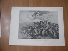 STAMPA I BERSAGLIERI GIUSEPPE CAROSI COMPOSIZIONE ALLEGORICA - Documents Historiques